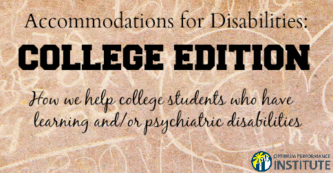 college help learning psychiatric disability