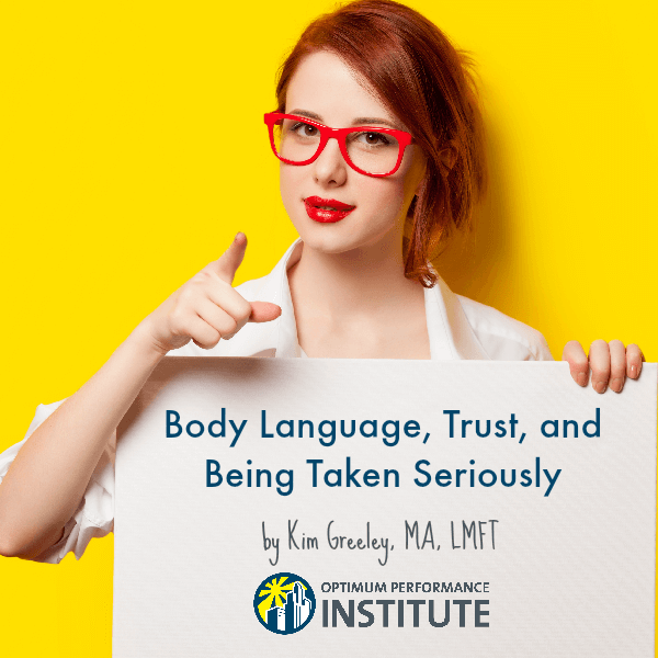 body language trust young adults