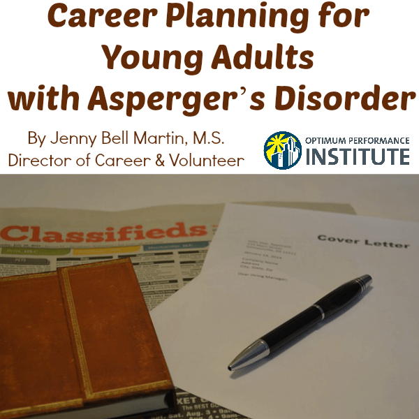 career planning aspergers young adult