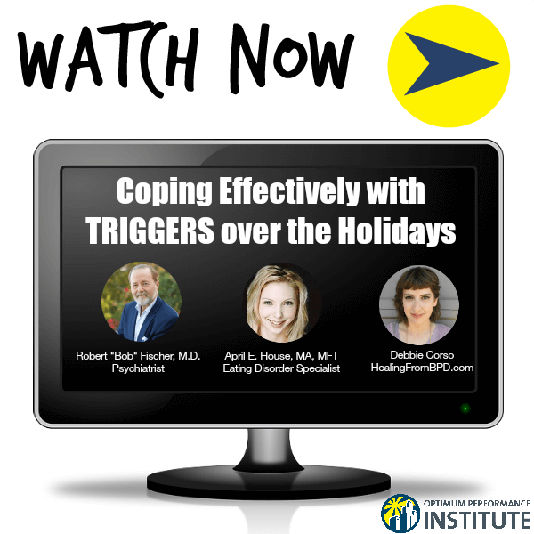 coping triggers holidays webinar