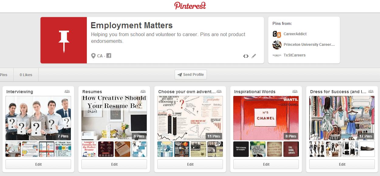 OPI Employment Matters Pinterest Board